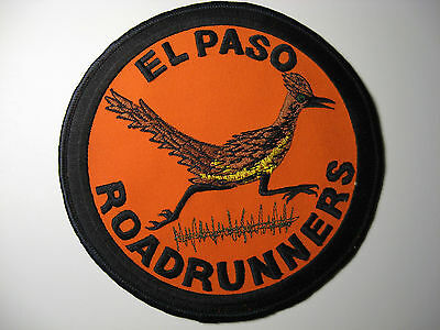 "*el Paso Texas ~ Road Runners* *extra Large*  *embroidered Patch*  5.75"" Dia"