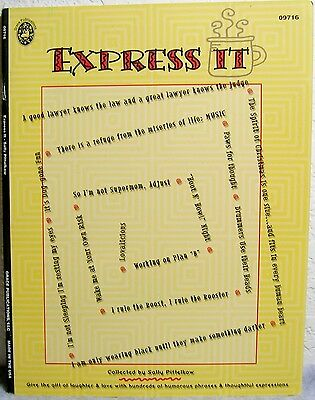 """Express It"" Humorous Phrases & Thoughtful Expressions: Scrapbook & Card Making"