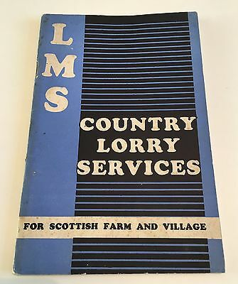 Lms Country Lorry Services For Scottish Farm And Village Booklet / Brochure