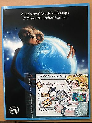 United Nations A Universal World of Stamps.  ET and the UN.  Ideal for children