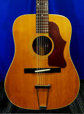 1969 GIBSON B-45-12N 12-Strings Vintage Acoustic Guitar Spruce Top with OHSC