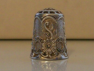 Glittering Heavy 925 Sterling Silver Thimble. Various Hallmarks
