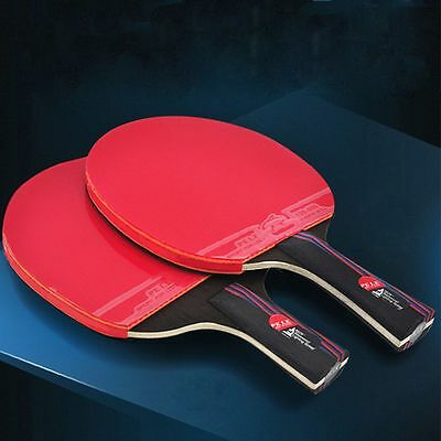 Rubber With Bag Table Tennis Racket Bat Carbon Fiber Ping Pong Paddle