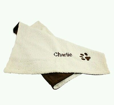 Personalised Luxury Dog Puppy Blanket/Mat Gift Name