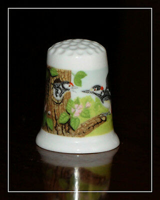 """TCC thimble by Crown Ducal - """"Woodpecker"""""""
