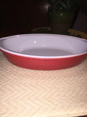 EMILE HENRY --FRANCE--RED AND WHITE OVAL BAKER --10 Inch