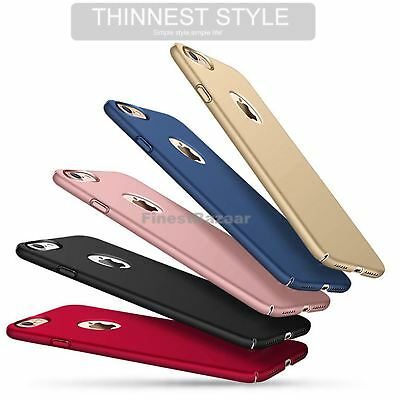 Luxury Ultra Thin Slim Acrylic Hard Back Case Cover Apple iPhone 10 X 8 7 6s 5s