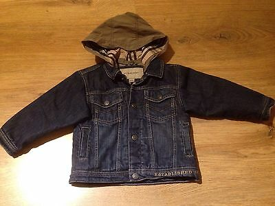 Burberry Burberry Infant Denim Jacket 18 Months Excellent Cond. Removable Hood