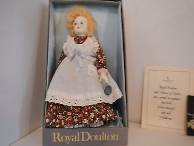 Vintage in box Royal Doulton porcelain doll in original box