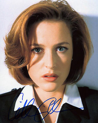 Gillian Anderson - Dana Scully - The X-Files - Signed Autograph REPRINT