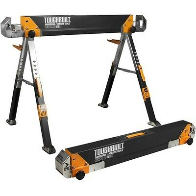Toughbuilt TOU-C700 Metal Folding Sawhorse With Telescopic Legs And Support Arms