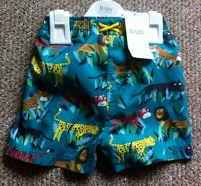 Baby Swim Shorts With Integrated Nappy M & S  Age 9-12 Months New With Tag