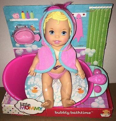 Little Mommy Bubbly Bathtime Doll Character Baby Pretend Play with Accessories