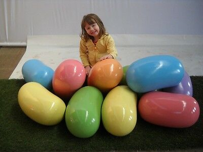"""Hand Painted Fiberglass Easter Springtime Giant 19"""" Jelly Beans Indoor Outdoor"""