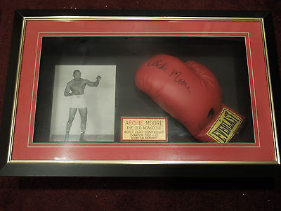 Archie Moore Signed and framed  Boxing Glove
