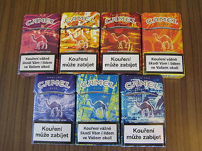 Camel  7 Special City Editions packs Leer / empty / kompletter Satz from CZ 2016