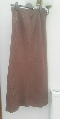 Vintage gold and burgundy dogtooth skirt from Gerry Weber 14