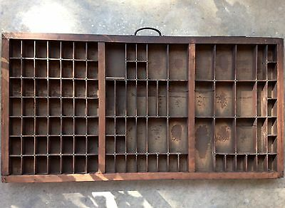 Antique Letterpress Printers TYPE TRAY w/ Copper Reinforcements