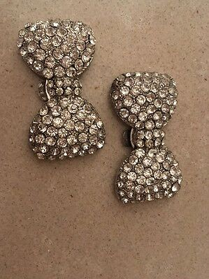 Crystal Bow Clip / Accessory / Shoe Clip ***low Low Price***