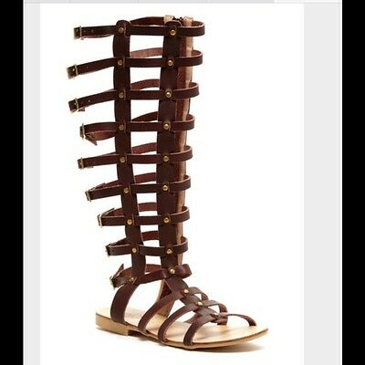 9a213f27ec3 Modern Rebel Arisong Women s Size 7.5 Brown Leather Strappy Gladiator  Sandals.