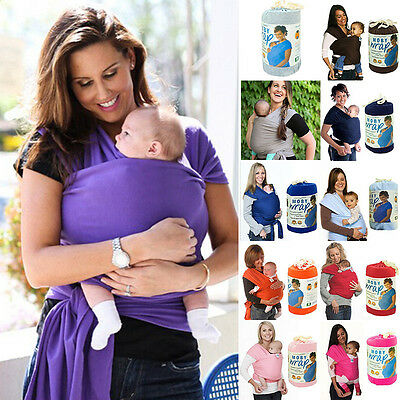 Baby Toddler Cotton Sling Stretchy Wrap Carrier Soft Backpack Nursing Cover