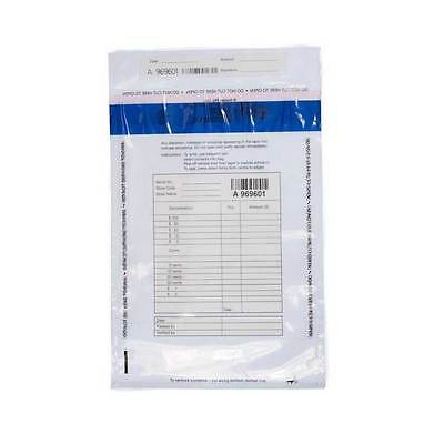 Clear Plastic Cash Disposable Bag High Security Satchel, Pack of 100
