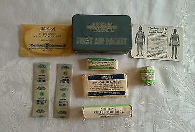 Vintage EVER-READY FIRST AID PACKET Tin MSA Mine Safety Appliances Pittsburgh PA