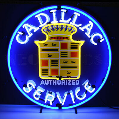 Neon Sign Retro Cadillac Service Escalade Garage lamp Man Cave GM Mancave