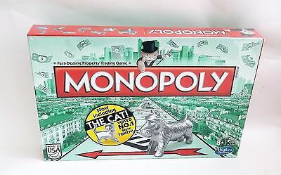 New Sealed Hasbro Monopoly Classic Family Board Game w/New Cat Token 2013