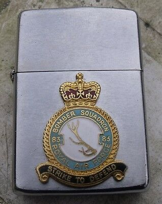 1965 Pat 2517191 Royal Air Force 83 Squadron Zippo Lighter Original Insert
