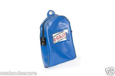 Blue 190 x 280mm Round Cash Bag for cash drawers
