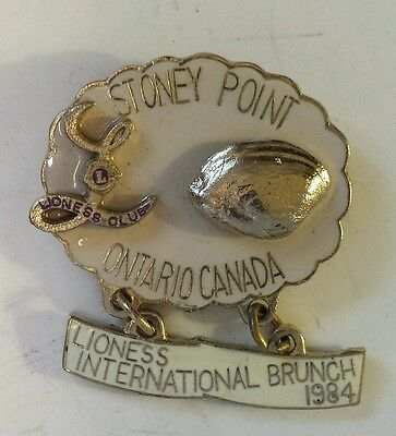 "Vintage (Ontario) ""stoney Point Lioness Club - 1984 International Brunch""- Clam"