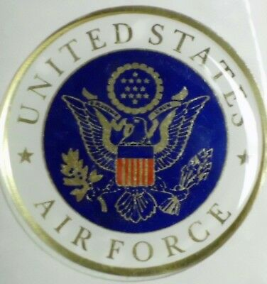 "Usaf Air Force Full Color 2"" Inch Epoxy Dome Car Decal Sticker Emblem"