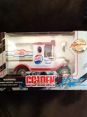 Collectible Pepsi-Cola Golden Classic Die Cast Metal Gift Bank - Original Box