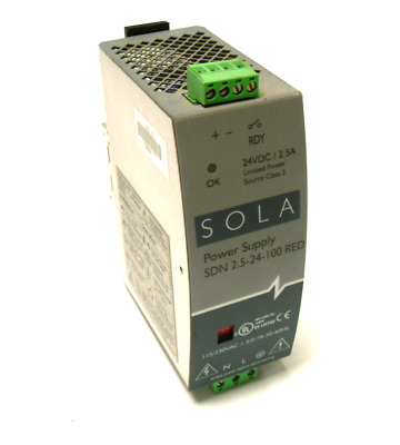 Sola Sdn 2.5-24-100 Red Power Supply 24Vdc 2.5A