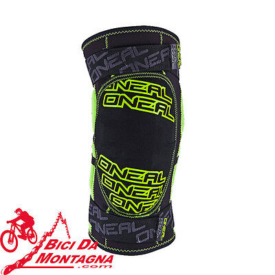 Ginocchiere O'neal Dirt Colore Nero Verde Tg Extra Large Enduro Mtb All Mountain