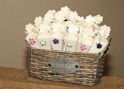 20 Natural real rose petal wedding confetti cones rustic basket string