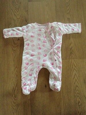 Baby Girls Padded Sleepsuit 0-3 Months