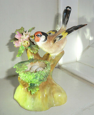 Crown Staffordshire Goldfinch on Nest - J.T. Jones 56 perfect condition