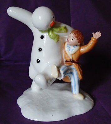 Royal Doulton SNOWMAN AND JAMES DANCING IN THE SNOW EXTREMELY RARE CONTRACT COPY