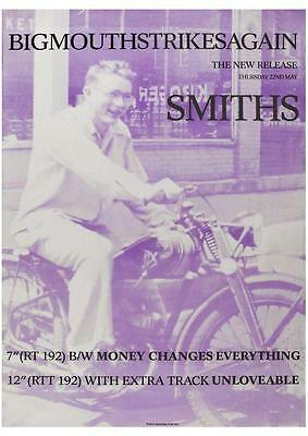 the Smiths POSTER Bigmouth Strikes Again  *LARGE*  Promo Morrissey Johnny Marr