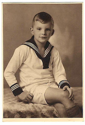 Vintage photo photograph 1920s? handsome young German boy in sailor suit