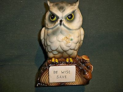Be Wise Save Owl Bank With Stopper