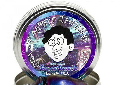 """Crazy Aaron's Thinking Putty Super Illusions Super Scarab New 2"""" Small Tin"""