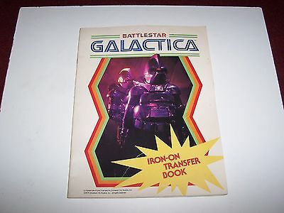Vintage Battlestar Galactica Iron On Transfer Book_Complete & Unused_1979