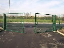 2.4m HIgh Mesh Security Vehicle Gate 5m wide - Any Size can be made