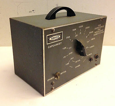 Speco Capohmist Tester for Capacitance and Resistance Substitution No Leads