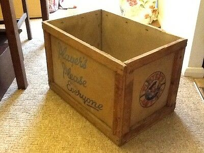 VINTAGE 1950s PLAYER'S NAVY CUT SHIPPING CRATE Storage Box
