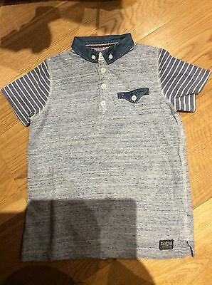 Boys Next Blue Polo Shirt, Age 7 Years
