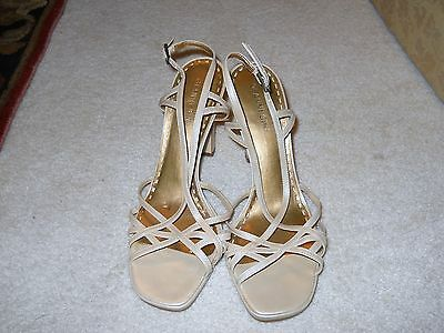 Gianni Bini  Leather 8.5 M Slingback Beige Open Toe Heels/